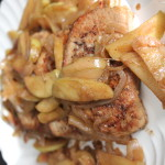 One pan pork chops with cinnamon apples, is the perfect fall inspired dish.