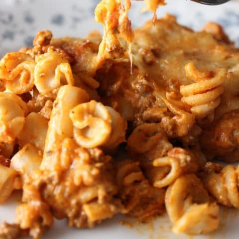 Cream Cheese Italian Pasta Casserole