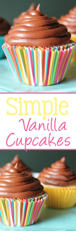 No eggs, no problem. These simple vanilla cupcakes are made without egg, and taste like they were made in the finest bakery! | EverydayMadeFresh.com