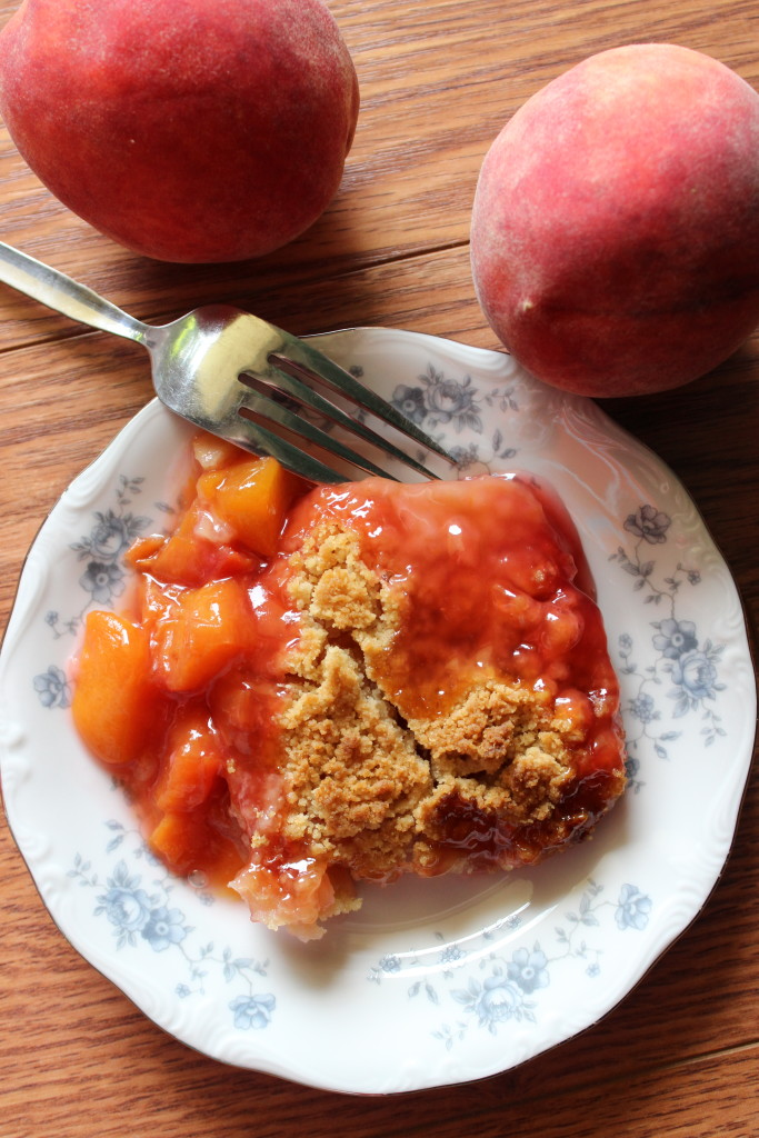 Chili S Peach Crumble Cake Recipe