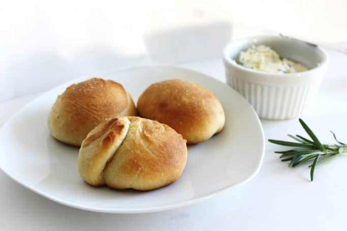 Dinner Rolls with Rosemary Butter Compound