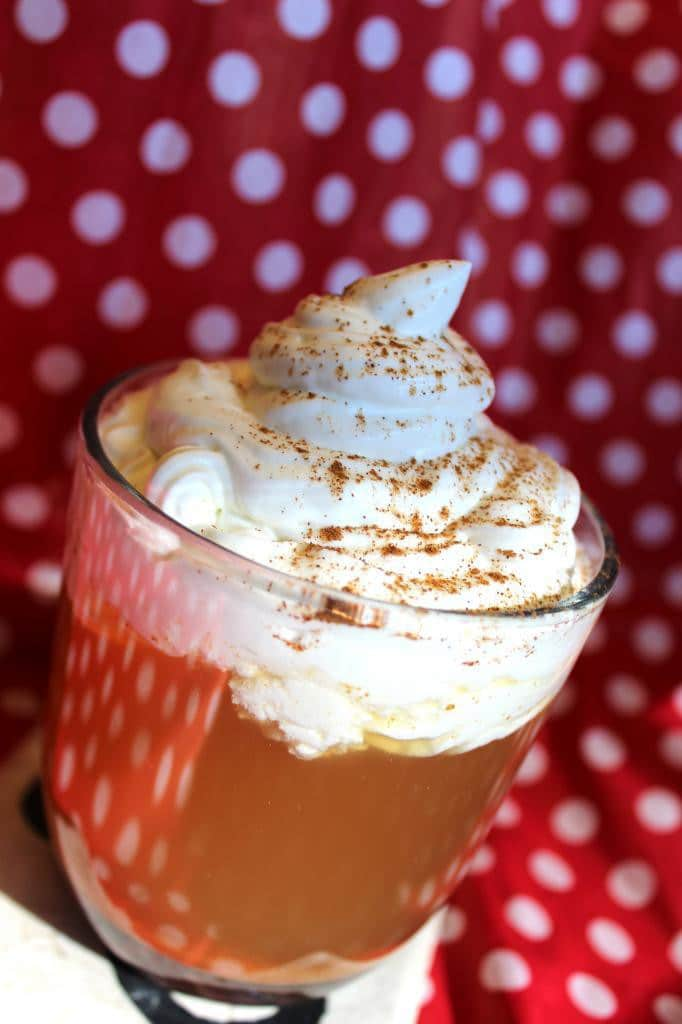 Simple Homemade Apple Cider with Homemade Whipped Cream