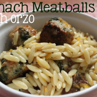 Spinach Meatballs with Orzo