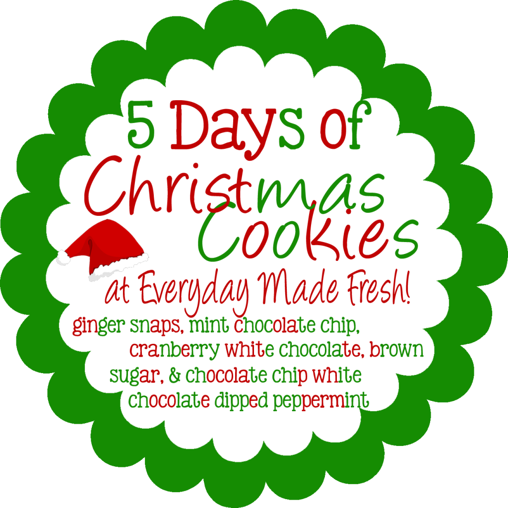 5 days of Christmas Cookies