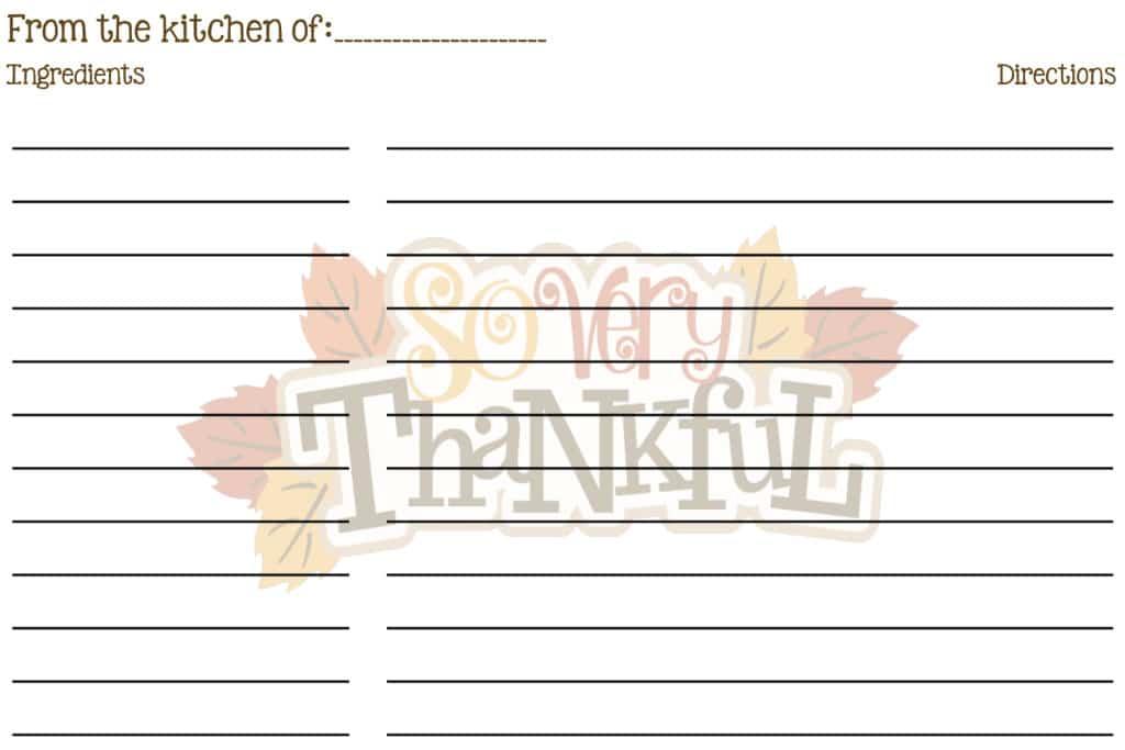 So Very Thankful Recipe Card 4X6 copy