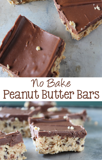 No Bake Peanut Butter Bars   EverydayMadeFresh.com