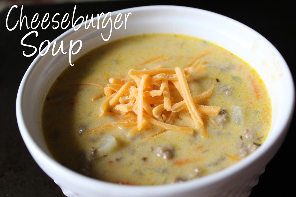 Warm up with this classical American favorite turned into a delicious a Cheeseburger Soup! | EverydayMadeFresh.com