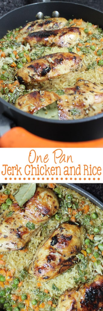One Pan Jerk Chicken and Rice Long