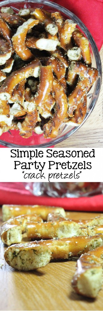 Simple Seasoned Party Pretzels