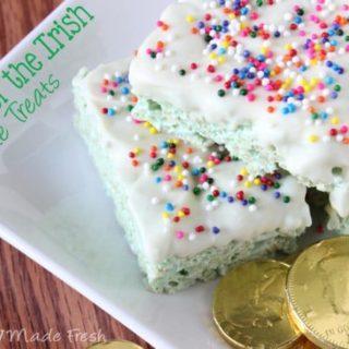 Luck of the Irish Rice Krispie Treats