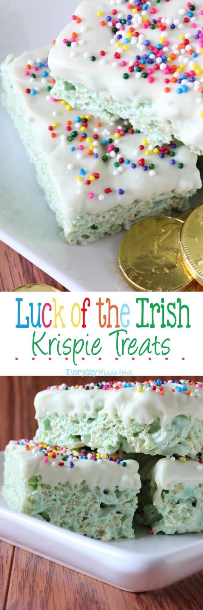 Luck of the Irish Krispie Treats | EverydayMadeFresh.com