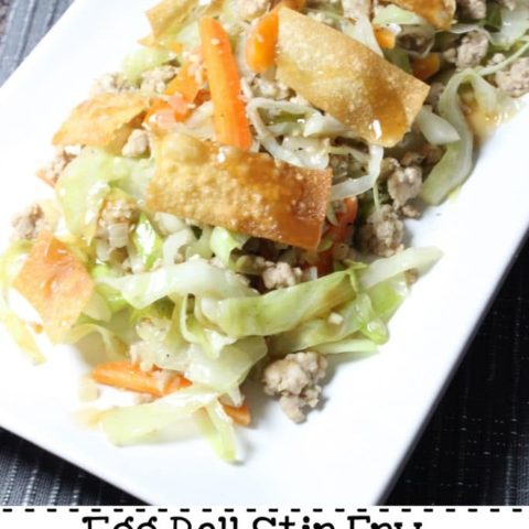 Egg Roll Stir Fry with Crispy Wontons