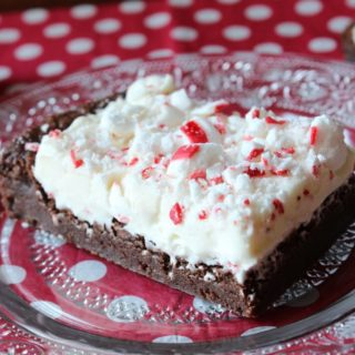 Peppermint Frosted Brownies