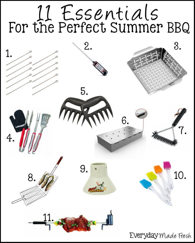 These 11 Essentials for the Perfect Summer BBQ were hand picked by us to help you have the perfect meal on the grill! | EverydayMadeFresh.com