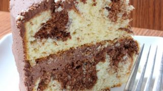 The Best Marble Cake with Chocolate Buttercream