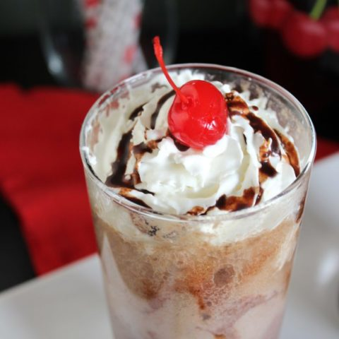 Chocolate Covered Cherry Floats