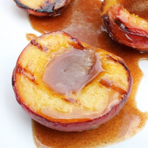 Grilled Peaches with Honey Cinnamon Sauce