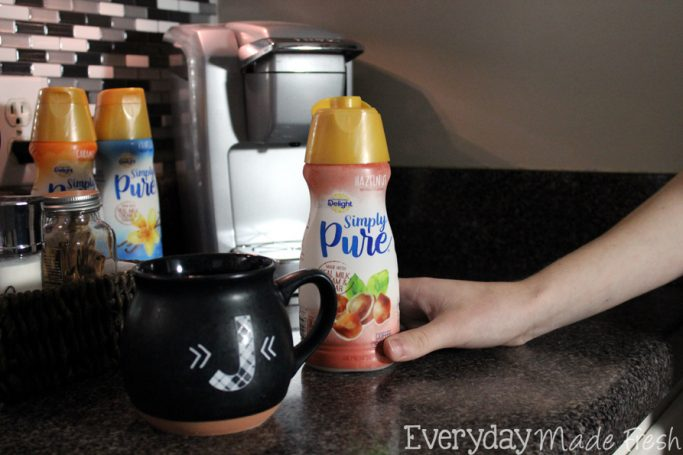 Our Simple Everyday Coffee Corner is easy to recreate and will have all the coffee lovers in your home happy!  #IDSimplyPure #ad | EverydayMadeFresh.com
