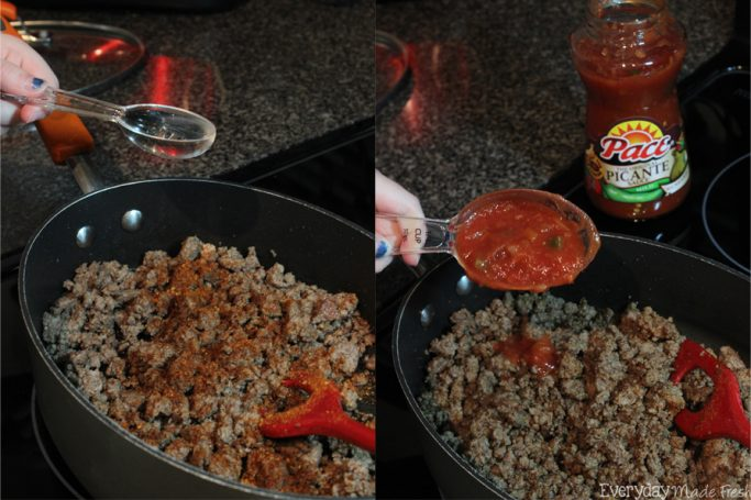 One Pan Taco Pie is a twist on the taco, and your family will love it! #CampbellSavings #ad | EverydayMadeFresh.com