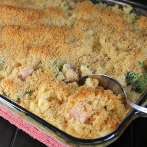 Ham Casserole with Broccoli and Cheese