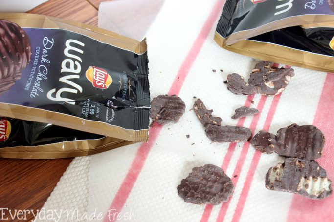 Sweet, salty, crunchy, and chewy this Simple Salted Potato Chip Pretzel Toffee will have you coming back for more!    EverydayMadeFresh.com