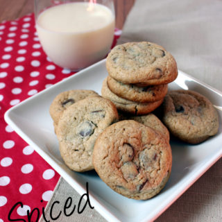 Spiced Eggnog Chocolate Chip Cookies