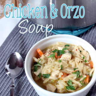 Take the noodles out of the soup, because this Chicken and Orzo Soup is the best thing that ever happened!
