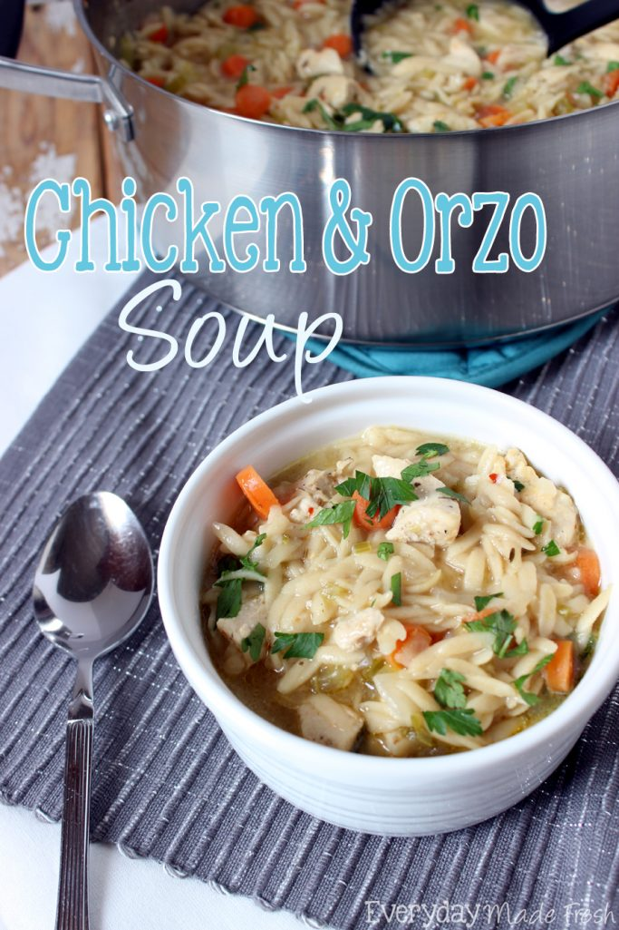 Take the noodles out of the soup, because this Chicken and Orzo Soup is the best thing that ever happened! | EverydayMadeFresh.com