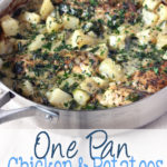 The perfect sauce always contains garlic. The perfect dinner is always cooked in one pan. This One Pan Chicken & Potatoes in a Creamy Garlic Sauce is perfection.   EverydayMadeFresh.com