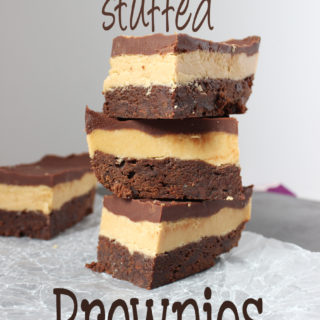 Peanut Butter Stuffed Brownies really don't need any introduction, the name says it all! | EverydayMadeFresh.com