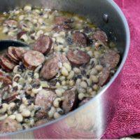 Smoky Black-Eyed Peas and Sausage