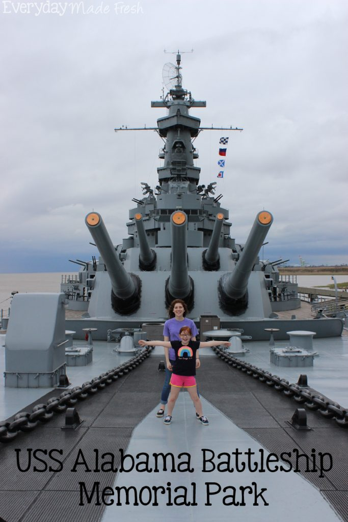 Located in Mobile Alabama, you will find USS Alabama Battleship Memorial Park. It's a must-see when you are in the area!   EverydayMadeFresh.com