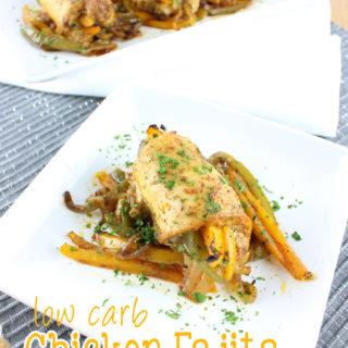 Low Carb Chicken Fajita Roll Ups