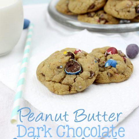 Peanut Butter Dark Chocolate Cadbury Mini Egg Cookies