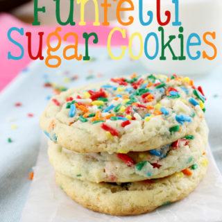 Perfectly Chewy Funfetti Sugar Cookies