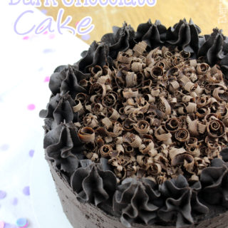 Chocolate cake is my favorite, and I set out to make the perfect chocolate cake by using only dark chocolate. This Double Dark Chocolate Cake is only for the serious chocolate fans. Not too sweet and very addicting! You've been warned!   EverydayMadeFresh.com