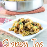 This Sloppy Joe Pasta Skillet is savory, comforting, and oh so tasty! Homemade sloppy joe sauce mixed with pasta, and topped with cheddar cheese; sure to satisfy any kid! | EverydayMadeFresh.com