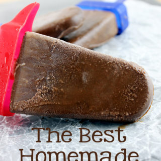 Chocolate fudgey goodness in the form of our summer favorite, popsicles! The Best Homemade Fudgesicles are made with 5 ingredients, and you will want to always have them in the freezer!