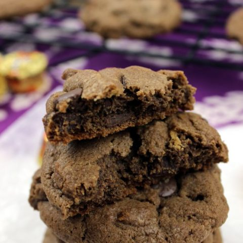 Double Chocolate Chip Peanut Butter Cup Cookies