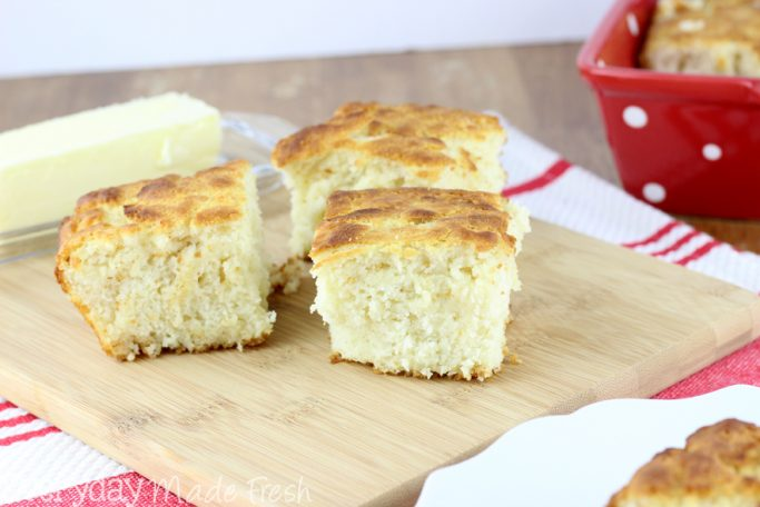 Achieve perfect biscuits every time with this recipe for Fluffy No Knead Buttermilk Biscuits.   EverydayMadeFresh.com