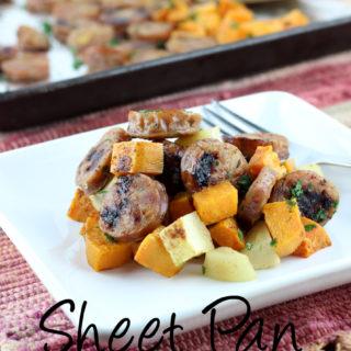 Sheet Pan Sausage, Sweet Potato, and Apple