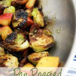 Pan Roasted Brussels Sprouts, Bacon, & Apple is an easy side that's loaded with flavor! | EverydayMadeFresh.com