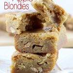 Thick, sweet, and chewy, these Caramel Chip Apple Blondies are exactly what you need in your life! | EverydayMadeFresh.com