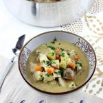 Warm and hearty, this Chicken Stew is loaded with carrots, potatoes, celery, white wine, and chunks of chicken! | EverydayMadeFresh.com