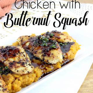 Maple Glazed Chicken with Butternut Squash is a quick dinner recipe that has the flavors of fall and winter. | EverydayMadeFresh.com