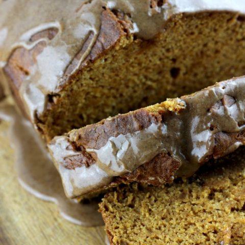 Pumpkin Pound Cake with Spiced Caramel