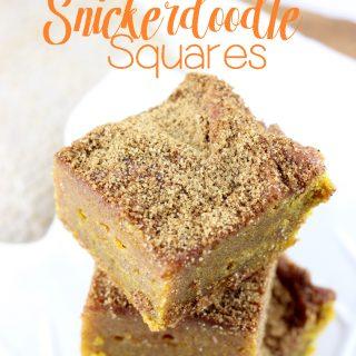Pumpkin Spice Snickerdoodle Squares