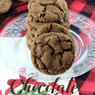 Chocolate chips stuffed inside of a cocoa ginger batter make these Chocolate Chip Ginger Cookies a holiday staple!   EverydayMadeFresh.com