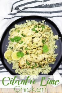 Fresh Cilantro and lime juice make this south of the border inspired chicken dish perfect. Pair it with lime cilantro rice, and you've turned this Cilantro Lime Chicken into a full meal. | EverydayMadeFresh.com