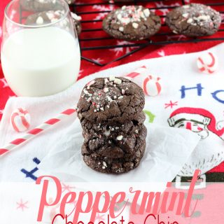 Double the chocolate in these Peppermint Chocolate Chip Chocolate Cookies. Made with soft peppermints, and chocolate on chocolate, these are for the serious mint chocolate lovers!   EverydayMadeFresh.com